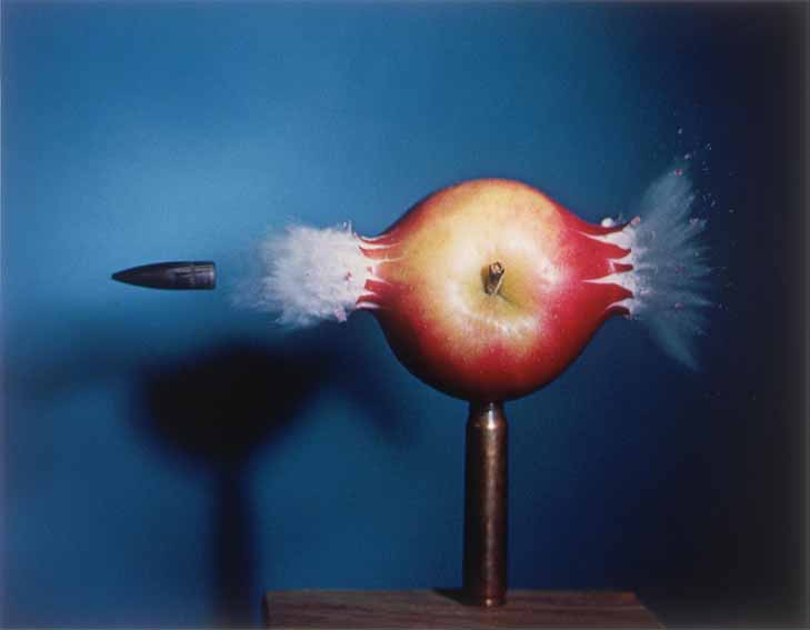 Bullet Through Apple - 1964, ©2010 MIT. Courtesy of MIT Museum