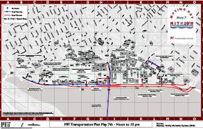 Street closing map