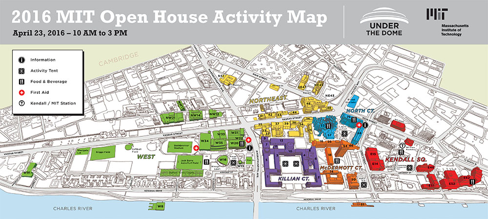 Open House activities map