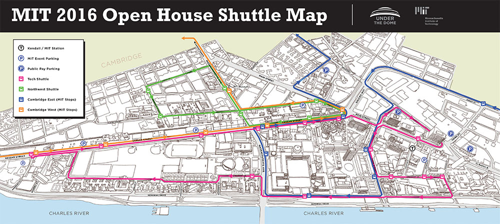 Open House shuttle map
