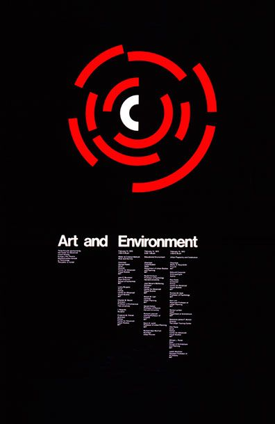 Poster for MIT's Center for Advanced Visual Studies by Jacqueline S. Casey (1972)