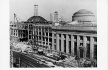 Building 7 construction; courtesy of MIT Museum