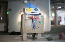 Museum robot art