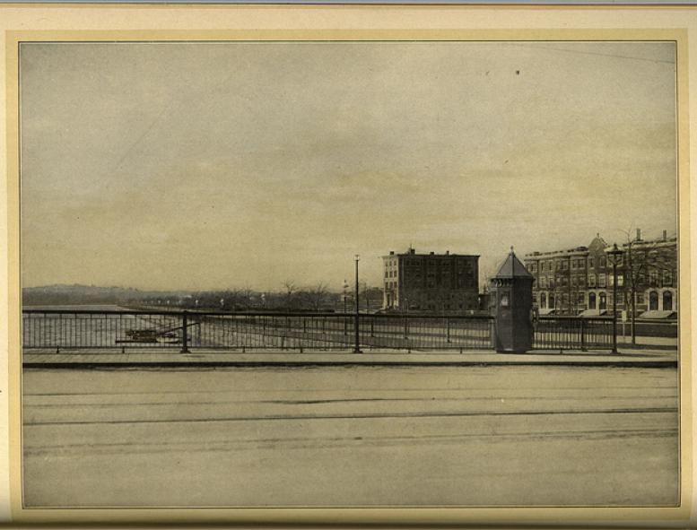 Historical view of Memorial Drive; image courtesy of the MIT Museum