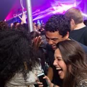 Students having fun at the MIT dance party on May 7