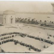 1916 Dedication procession the Great Court, courtesy of MIT Museum