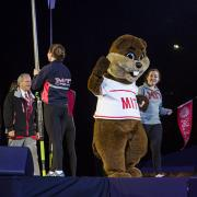 Tim the Beaver on stage