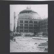 Side view of Great Dome construction; image courtesy of MIT Museum
