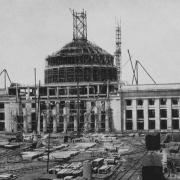 Construction of the Great Dome; courtesty of the MIT Libraries