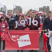 Alumni in parade