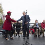 President Reif and Mayor Denise Simmons