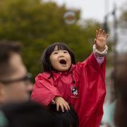 Young girl at parade